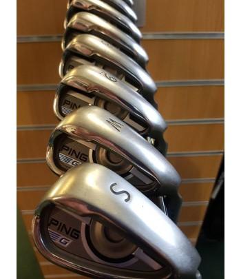 Ping G irons  /4-sw/ Regular steel/ Blue lie/Gold grips//