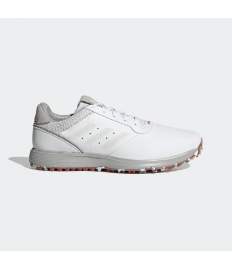 Adidas S2G Spikeless Leather Golf Shoes   White